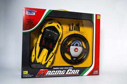 Радиоуправляме количка с дистанционно и отварящи се врати (жълта)